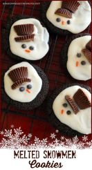 melted snowman cookies via home is where the boat is