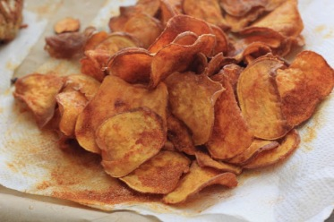 bbq sweet potato chips via southern souffle