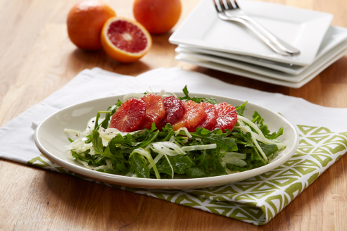 blood orange salad with fennel and arugula via sunkist