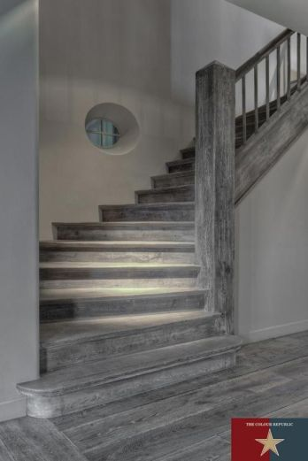 gray_staircase via bhousedesain