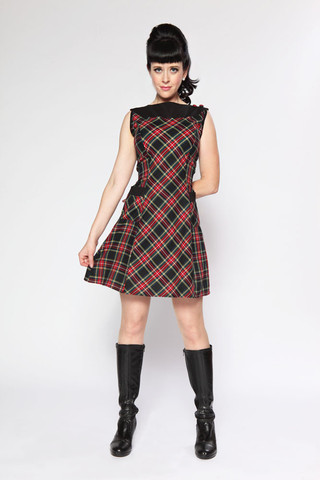 hoh_doreen dress black plaid