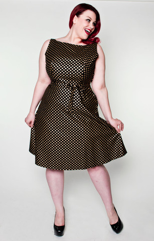 hoh_monique dress gold dot