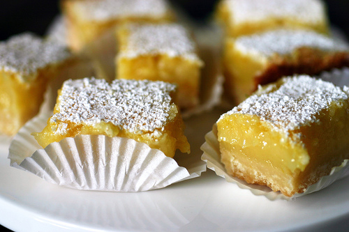 lemon bars via smitten kitchen