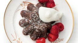 molten chocolate cake via nytimes