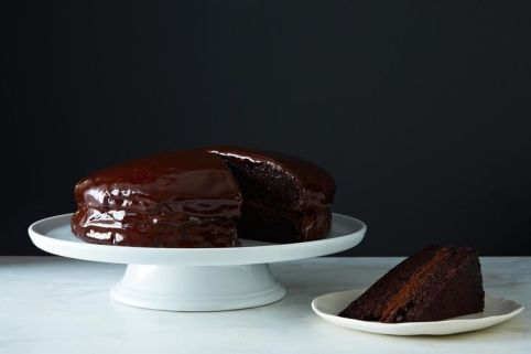 vegan chocolate cake via food51