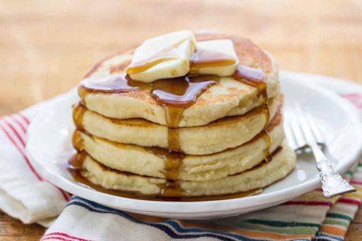 almond flour pancakes via king arthur flour