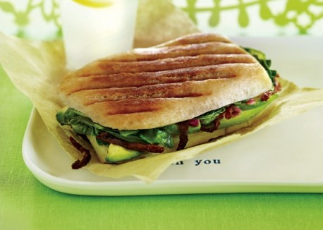 avocado panini sandwich via vegetarian times