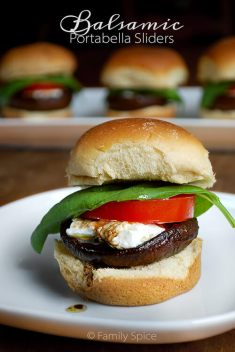 balsamic portabello sliders via family spice