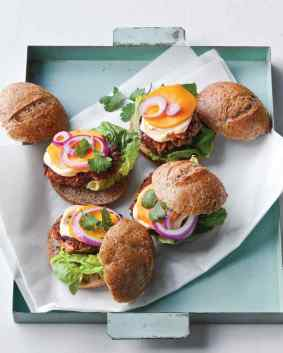 bean and veggie sliders via martha stewart