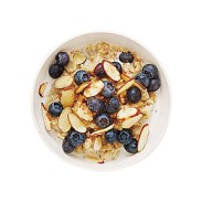 blueberry almond oatmeal via my recipes