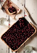 chocolate pomegranate tart via pastry affair