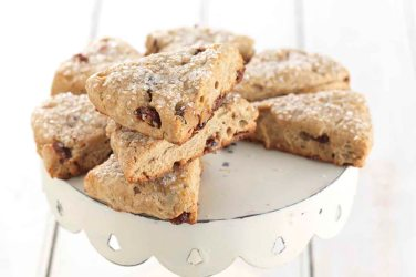 cranberry orange tea scones via king arthur flour