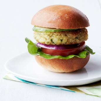 crispy quinoa sliders via food & wine