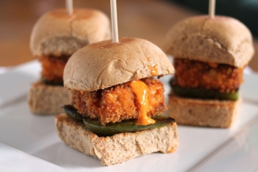 crispy tofu sliders via culinary colleen