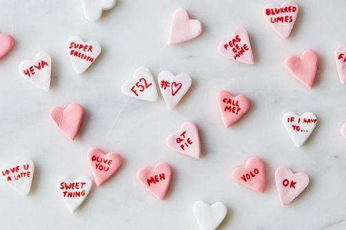 diy valentine conversation hearts via food52