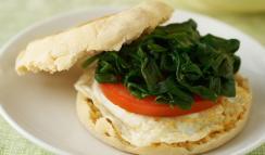 english muffin breakfast sandwich via cooking matters