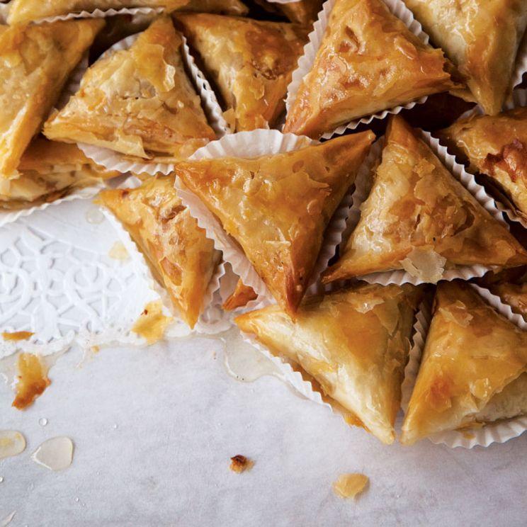 fried almond pastries via saveur