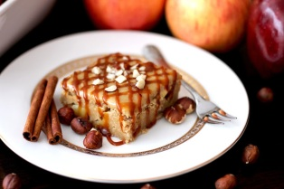 healthy apple pie blondies with brown sugar frosting via desserts with benefits