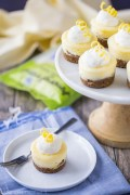 mini lemon cheesecakes with ginger cookie crust via baking a moment