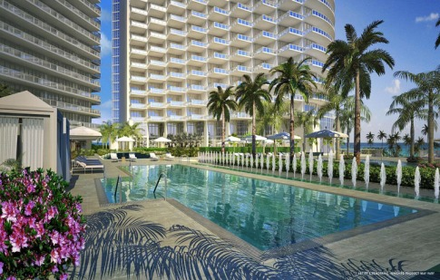 st regis bal harbour pool via just luxe