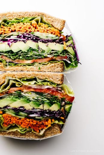 ultimate veggie sandwich via I am food blog