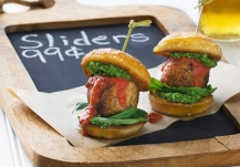 vegan meatball sliders via chef chloe