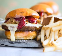 veggie sliders with blackberry sauce via foodness gracious2