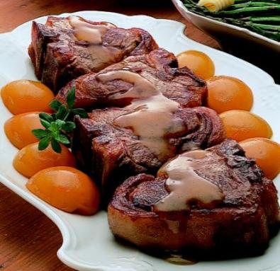 apricot* glazed lamb chops via cook'n