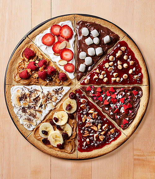 cookie pizza via good housekeeping