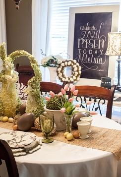 easter table via dear lillie blog