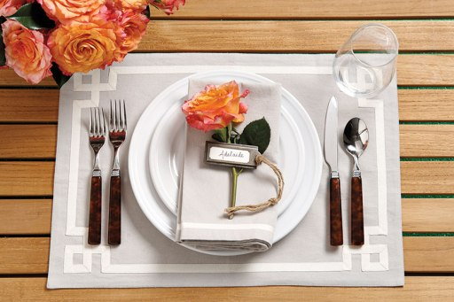 floral place setting via ballard designs