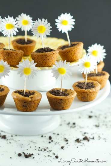 flower pot cookies via living sweet moments
