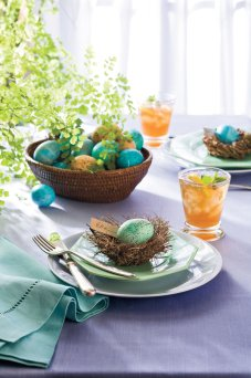 robin egg place settings via southern living