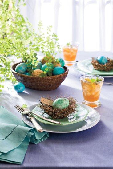 robin egg place settings via southern living