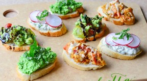 spring bruschetta (four ways) via delish knowledge