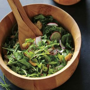 spring salad with radishes* and fresh herbs via williams-sonoma