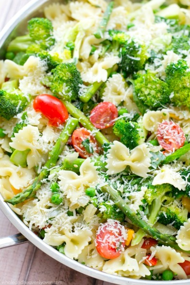 springtime veggie pasta primavera via whole and heavenly oven