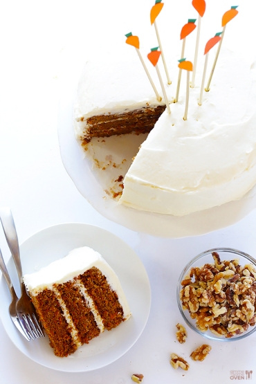 vegan gluten free carrot cake via gimme some oven