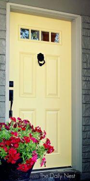 butter yellow door via satori design for living