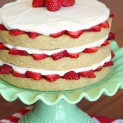 gluten free vegan strawberry shortcake via sarah bakes gluten free