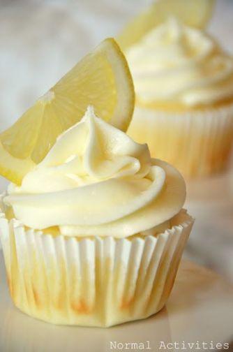 limoncello cupcakes via sallys baking addiction