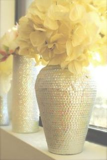 pale yellow flowers and vase via etsy