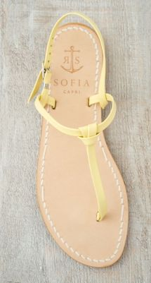 pastel yellow sandal via capri