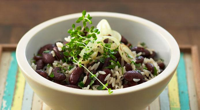 basmati rice with kidney beans and thyme via fine dining lovers