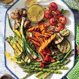 grilled vegetable platter via southern living