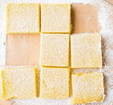 meyer lemon squares via williams sonoma