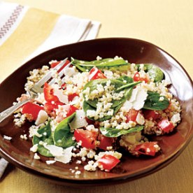 quinoa with roasted garlic and tomatoes via cooking light