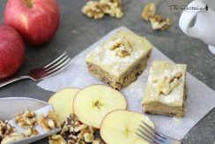 raw apple walnut cake via the rawtarian