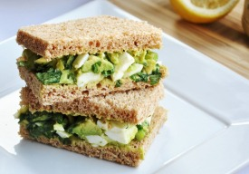 avocado egg salad sandwich via honey what's cooking