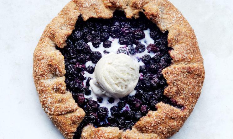 blueberry pecan galette via bon appetit